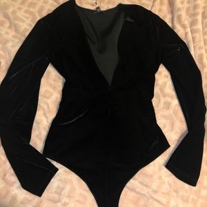 Express velour bodysuit size M brand new